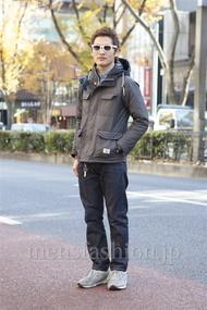 ファッションコーディネート原宿・表参道 2012年12月 WATABE SHOMAさん