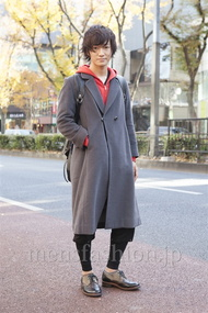 ファッションコーディネート原宿・表参道 2012年12月 小峰駿介さん