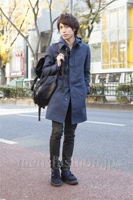 ファッションコーディネート原宿・表参道 2012年12月 菊池快瑠さん