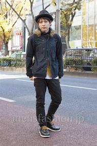 ファッションコーディネート原宿・表参道 2012年12月 小牧卓真さん
