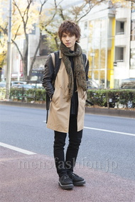 ファッションコーディネート原宿・表参道 2012年12月 川田晋吾さん