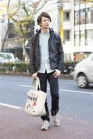 ファッションコーディネート原宿・表参道 2012年12月 西山龍祐さん