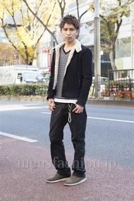 ファッションコーディネート原宿・表参道 2012年12月 長張雄飛さん