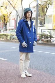 ファッションコーディネート原宿・表参道 2012年12月 小西 涼さん