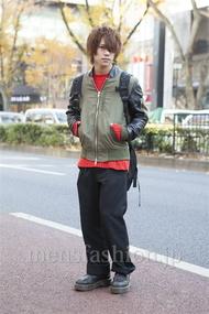 ファッションコーディネート原宿・表参道 2012年12月 夏川登志郎さん
