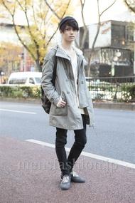 ファッションコーディネート原宿・表参道 2012年12月 角皆亮太さん