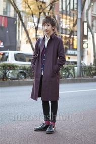 ファッションコーディネート原宿・表参道 2012年12月 平八重拓真さん
