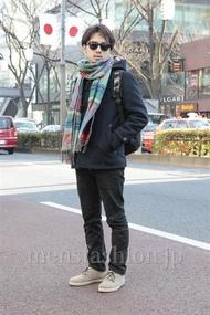 ファッションコーディネート原宿・表参道 2013年01月 中川淳也さん