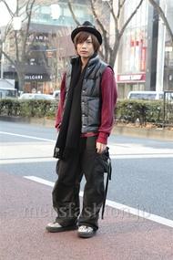 ファッションコーディネート原宿・表参道 2013年01月 炭谷尭人さん