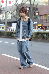 ファッションコーディネート原宿・表参道 2013年01月 高木進之介さん