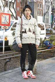ファッションコーディネート原宿・表参道 2013年01月 服部大起さん