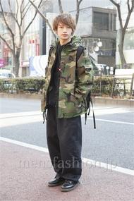 ファッションコーディネート原宿・表参道 2013年02月 松本 岳さん