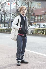 ファッションコーディネート原宿・表参道 2013年02月 川原一高さん