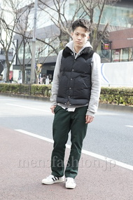 ファッションコーディネート原宿・表参道 2013年02月 増渕雄一さん