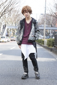 ファッションコーディネート原宿・表参道 2013年03月 夏川登志郎さん
