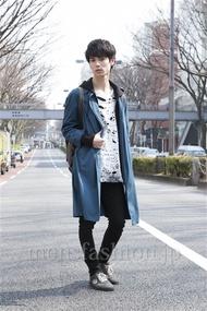 ファッションコーディネート原宿・表参道 2013年03月 角皆亮太さん