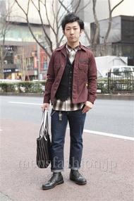 ファッションコーディネート原宿・表参道 2013年03月 向後春輝さん