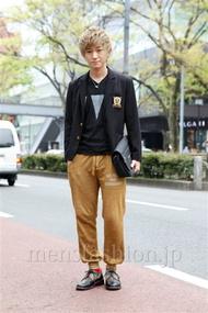 ファッションコーディネート原宿・表参道 2013年04月 小峰駿介さん