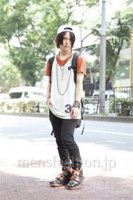ファッションコーディネート原宿・表参道 2013年07月 夏川登志郎さん