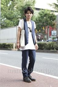ファッションコーディネート原宿・表参道 2013年07月 黒山慶司さん