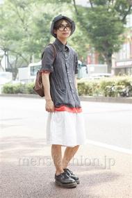 ファッションコーディネート原宿・表参道 2013年08月 岡 毅さん
