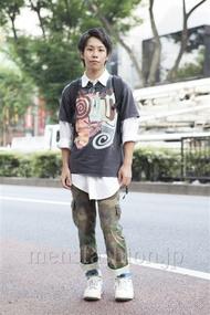 ファッションコーディネート原宿・表参道 2013年08月 ユウマヤマザワさん