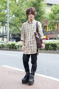 ファッションコーディネート原宿・表参道 2013年10月 夏川登志郎さん