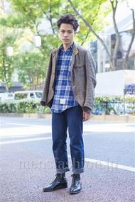 ファッションコーディネート原宿・表参道 2013年11月 増渕雄一さん