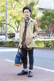 ファッションコーディネート原宿・表参道 2013年11月 向後春輝さん