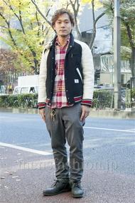 ファッションコーディネート原宿・表参道 2013年12月 川原一高さん