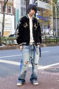 ファッションコーディネート原宿・表参道 2013年12月 石田直輝さん
