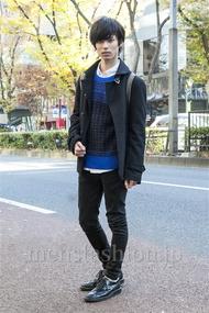 ファッションコーディネート原宿・表参道 2013年12月 角皆亮太さん