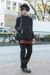 ファッションコーディネート原宿・表参道 2013年12月 勝田俊介さん