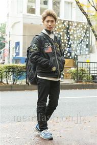 ファッションコーディネート原宿・表参道 2013年12月 品川 翔さん