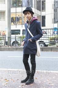 ファッションコーディネート原宿・表参道 2013年12月 大木 光さん