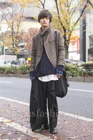 ファッションコーディネート原宿・表参道 2013年12月 長坂睦生さん