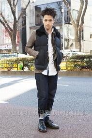 ファッションコーディネート原宿・表参道 2014年01月 増渕雄一さん