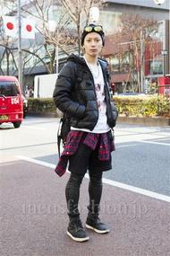 ファッションコーディネート原宿・表参道 2014年01月 新田快広さん