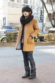 ファッションコーディネート原宿・表参道 2014年01月 黒山慶司さん