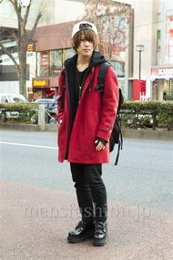 ファッションコーディネート原宿・表参道 2014年01月 夏川登志郎さん
