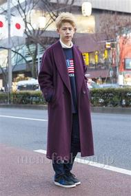 ファッションコーディネート原宿・表参道 2014年01月 岡崎 翼さん