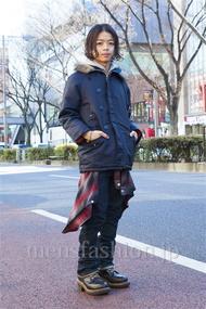 ファッションコーディネート原宿・表参道 2014年01月 佐藤貴龍さん