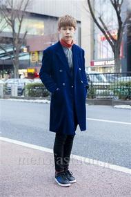 ファッションコーディネート原宿・表参道 2014年02月 岡崎 翼さん