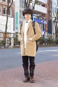 ファッションコーディネート原宿・表参道 2014年02月 諏訪登大さん