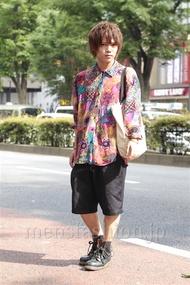 ファッションコーディネート原宿・表参道 2014年06月 夏川登志郎さん