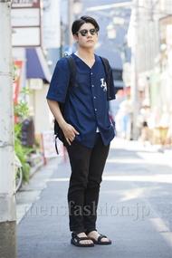 ファッションコーディネート原宿・表参道 2014年07月 藤原朋哉さん
