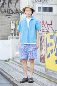ファッションコーディネート原宿・表参道 2014年07月 井上貴弘さん