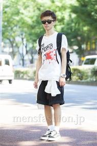 ファッションコーディネート原宿・表参道 2014年07月 五味渕佳祐さん