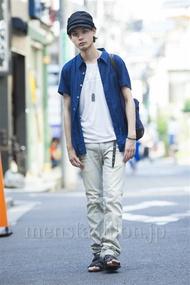 ファッションコーディネート原宿・表参道 2014年07月 藤木亮介さん