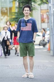 ファッションコーディネート原宿・表参道 2014年07月 ワタベショウマさん